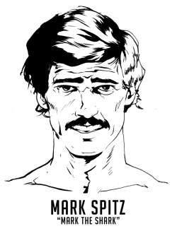 "Considered by many as the greatest Olympian ever, Mark Spitz is an American icon. His record 7 Gold Medals at the 1972 Munich Olympics was surpassed only recently by Michael Phelps in 2008. In a span of 4 years from 1968-1972, Spitz set 33 world records in various events.Also noteworthy? Spitz wore the most iconic mustache in the history of sports. Grown in a time when swimmers were shaving all their body hair, the Spitz-stache was originally grown as an act of rebellion towards the clean cut image pervasive in college swimming. Spitz reportedly intended to shave it before the Munich Olympiad, but it garnered so much attention he decided to keep it as a ""good-luck piece."" The best story of the mustache was related by Spitz himself in an interview.""I had some fun with a Russian coach who asked me if my mustache slowed me down. I said, 'No, as a matter of fact, it deflects water away from my mouth, allows my rear end to rise and make me bullet-shaped in the water, and that's what had allowed me to swim so great.' He's translating as fast as he can for the other coaches. The following year every Russian male swimmer had a mustache."""