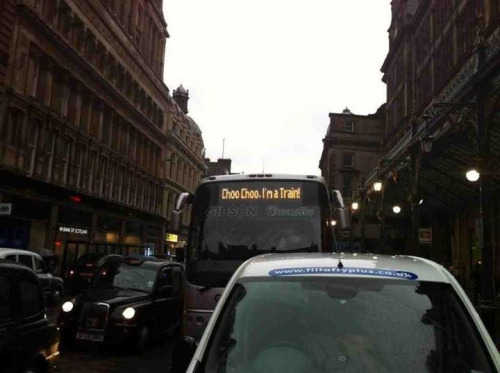 jeflew:  Rail-replacement service in Glasgow.