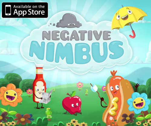kennymattozzi:  Friends! Followers! Today is a big deal! Negative Nimbus is our studio's first original iPad app and we are beyond excited to announce that it launches today in the app store. I helped to produce this game and build the levels and I can honestly say it's something I'm really proud of. So please, check it out and tell your friends - we are a tiny studio and can use all the help we can get! Plus he is just so cute and so sad.  In honor of our studio's app release, we have replaced our banner with a Nimbus banner. But don't worry, we will be back soon with our stupid faces up there. In the mean time, check out Negative Nimbus and see what it is we do all day when we aren't instant messaging.