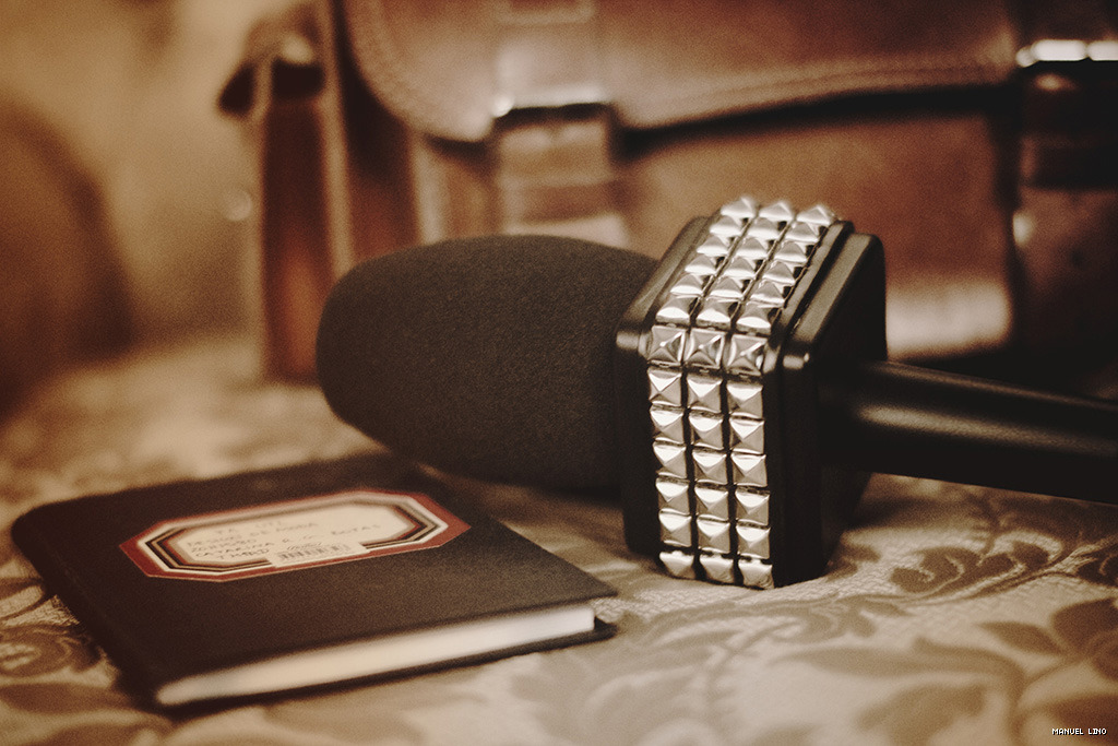 Studded mic flag, now journalism just got a little bit fancier!