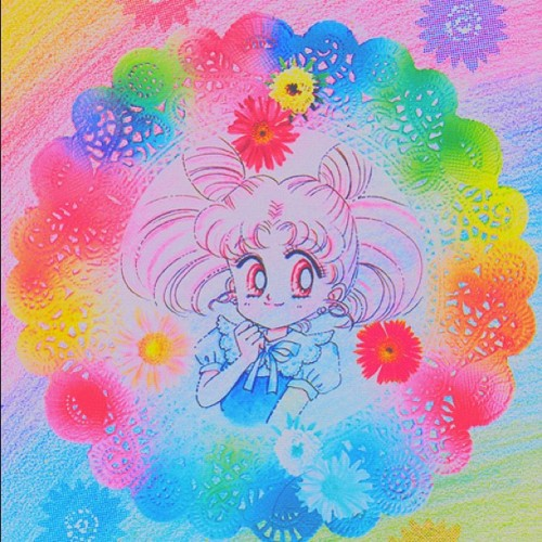 #sailormoon #sailorchibimoon #chibiusa #rini #tsukinochibiusa #manga #rainbow #cute #kawaii #adorable #colorful #color #colors #beautiful (Taken with Instagram)
