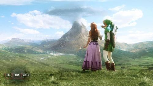 Beautiful painting of Hyrule.