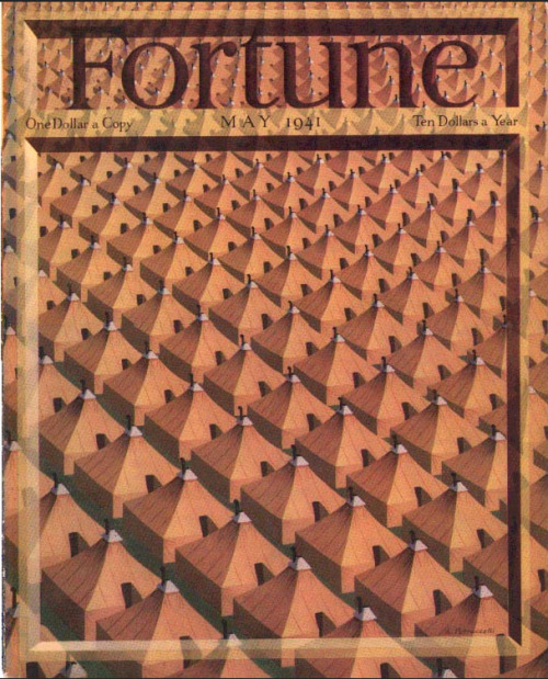 Fortune, May 1941Cover illustration: Antonio Petruccelli See 14 of Petruccelli's 1930s-40s Fortune covers here The Society of Illustrators in New York City has a Petroccelli show now on display through December 1