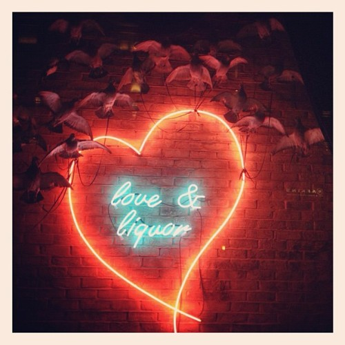 #Love & #Liquor… #Pub #Sign #Neon #Birds #Nature #Pigeon #InstaDaily #InstaHub #Webstagram #London #Bar #Club #Secret #SpeakEasy  (Taken with Instagram)