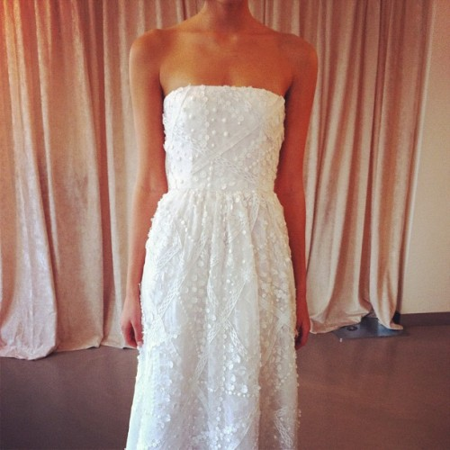 Love this Oscar de la Renta creation for a summer wedding #bridalmarket @OscarPRGirl (Taken with Instagram)