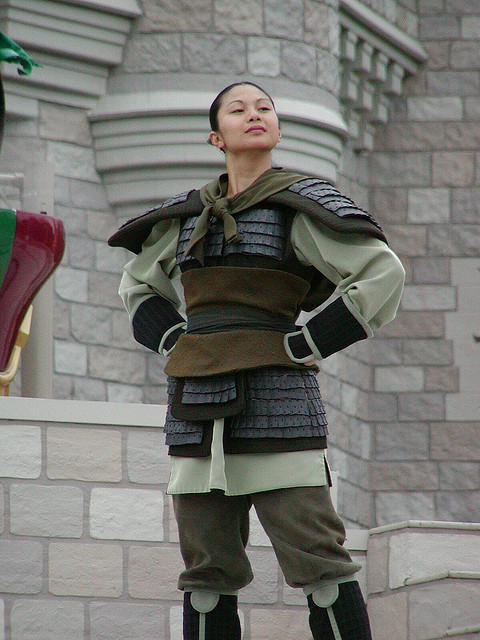 disneyworldwonders:  Can I just say that I think this is the way Mulan should appear int the parks. In the beginning of the movie they make it very clear that the dress she wears to meet the matchmaker is not comfortable nor does it represent her personality. She spends the whole of the film proving that she is not a prize to be won or just a pawn to be married off at earliest convenience. She proves her worth in this outfit. She saves China in this outfit. She falls in love in this outfit. She risks her life, makes her strongest friendships, and changes the entire country IN THIS OUTFIT. Then they have her walk around the park in the same outfit she wore in the first scene of the movie and I think it is really negative toward her character. That is not who she is.