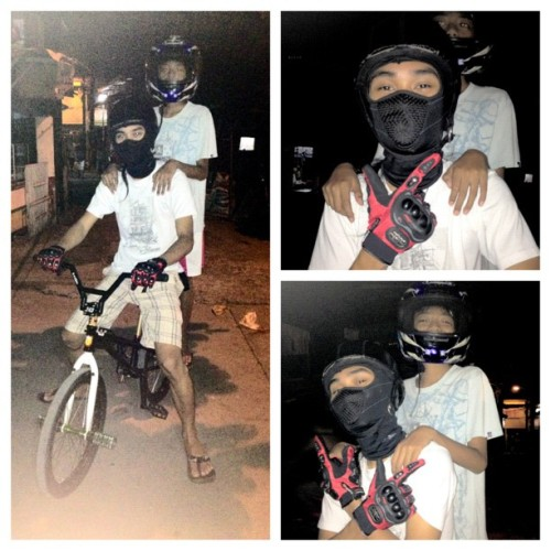 Sila ang mga tunay na riders na kalawakan! jak-OL and Gboy :)) (Taken with Instagram)
