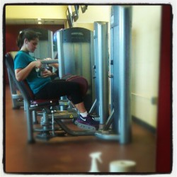 juliebear328:  Feeling the burn! #thighs #muscle #weights #gym #workout #feeltheburn (Taken with Instagram at Rhode island college recreation center)