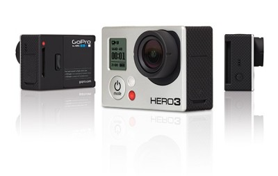 vimeo:  The fine folks at GoPro just announced the new Hero3, boasting a 30% smaller and 25% lighter body, resolution that's up to 4x higher, and built-in WiFi. Making the most waves is the Black Edition, which is capable of 4K and 2.7K resolutions, though the more affordable Silver and White Editions max out at a not-too-shabby 1080p. Geek out over the details right here > What say you, internet? Will you be pre-ordering?