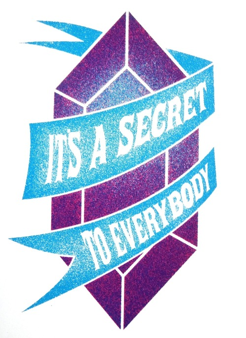 "Secret Mike Mancuso Serigraphy 9 x 12"" 2012 theyetee.com"