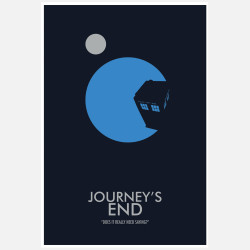 Doctor Who Journey's End, 23% off now featured on Fab.Fab.comFilms get all the buzz—the red carpet, trailers, and the like. Part of graphic artist Christian Petersen's series of works inspired by the popular British sci-fi television program, this poster focuses the spotlight on the humble small screen. Named after a specific episode, it's sure to strike a chord for diehard fans of the series.