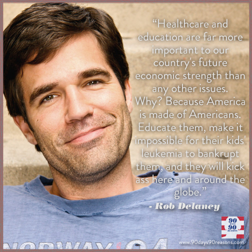 90days-90reasons:  REASON 71 by Rob Delaney Obama understands that education and healthcare are the foundations of a strong economy. Continue reading…