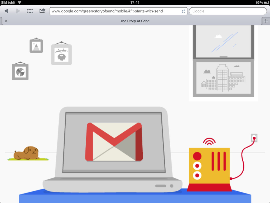 Webbased storytelling in Perfection. The story of send by google.