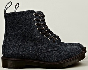 Dr. Martens M.I.E. Harris Tweed Beckett 8 Eye Boot