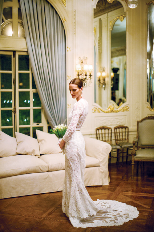 vogue:  Vanessa Traina in a custom-made Givenchy wedding dress. Photo: Samuel Lippke & Allan Zepeda for Samuel Lippke Studios See the slideshow