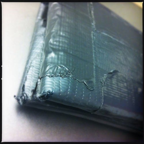 My duct-tape wallet was getting pretty frayed. I thought I would have to throw it away and get a new one but I finally realized … I could fix it with duct tape.