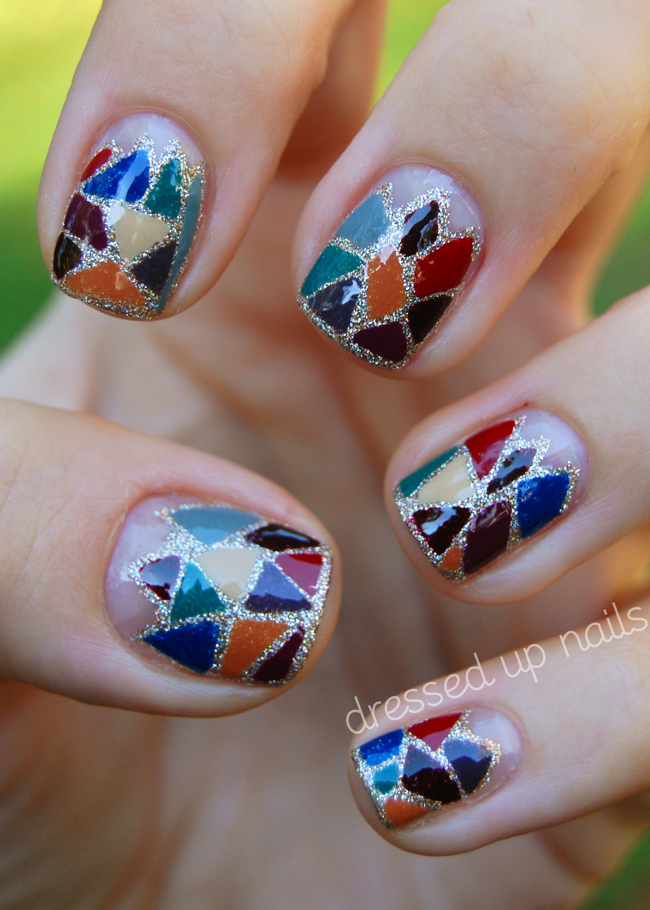 China Glaze on Safari nail art by dressedupnails