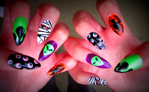 Halloween 2012 Nails!