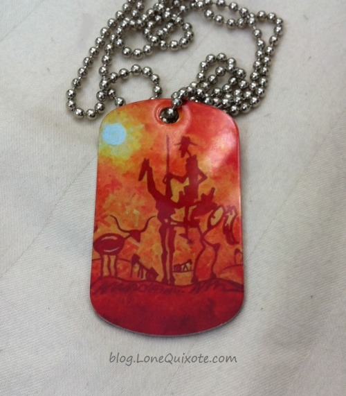 Lone Quixote Art Tag Necklace ~ Lone Quixote