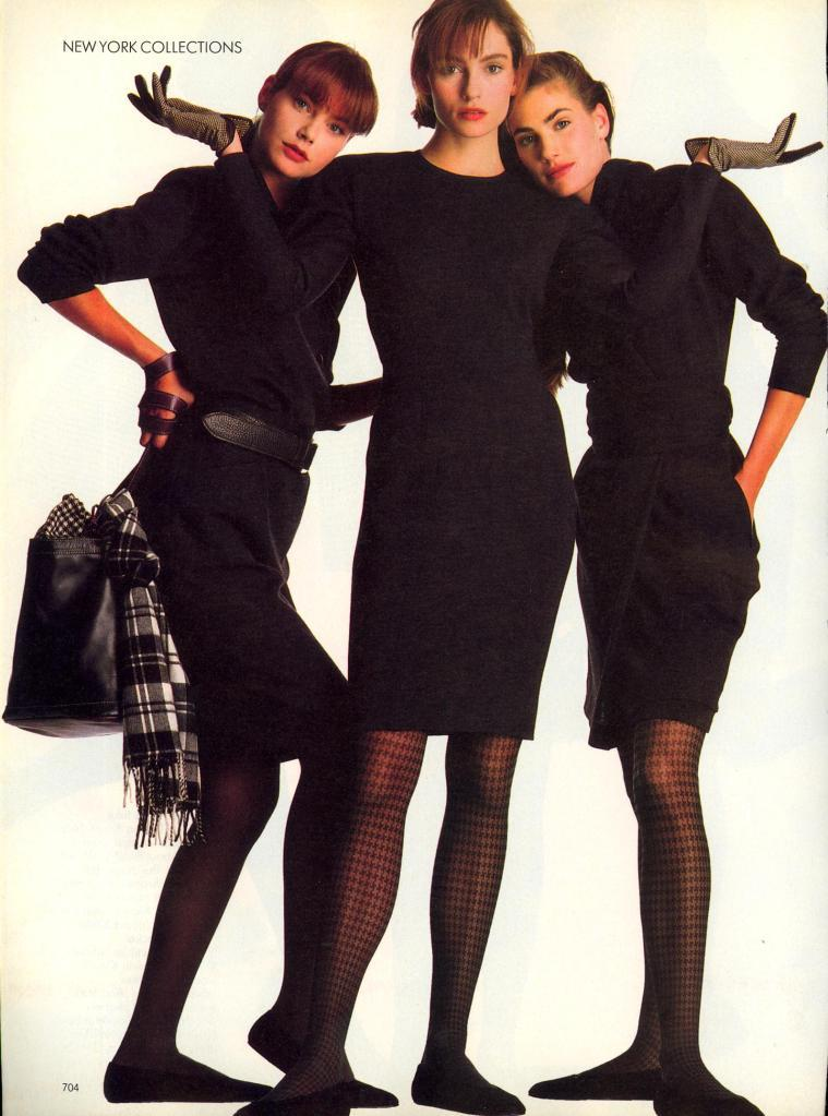 US Vogue September 1988 You're All Set To Go! Photo Walter Chin Models Famke Janssen & Unknowns Hair Didier Malige Makeup Sonia Kashuk