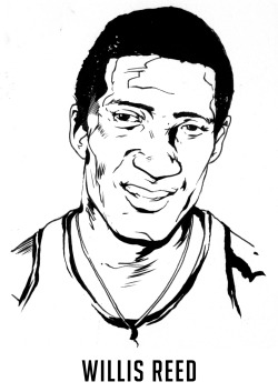 "As a career member of the New York Knicks, Willis Reed established a ferocious, physical style of play at both ends of the court that earned him great accolades throughout his career. Rookie of the Year in 1964, Hall of Fame in 1982, 50 Greatest NBA Players of All Time in 1997- you know, no big deal. Oddly enough, the defining moment of his career would come on May 8, 1970- in a game he barely played in.With the odds seemingly stacked against them, the Knicks headed into a showdown at Madison Square Garden against the Los Angeles Lakers. Reed had missed Game 6 due to a torn thigh muscle (A TORN THIGH MUSCLE)  that would seemingly preclude him from the 7th and deciding game. Against all odds, Reed came out of the tunnel and onto the court during pregame warmups whipping an anxious crowd into a frothing frenzy. Reed started the game and scored the first two field goals for the Knicks- the only baskets he would make in the game. The rest is history- drawing inspiration from their wounded brethren, the Knicks rolled to a 113-99 victory winning their first NBA title. Reed's transcendent moment  would later be voted as the single greatest moment in the history of the self-proclaimed ""World's Most Famous Arena."""