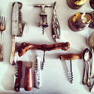 Props from our Thanksgiving shoot. Can you guess how many corkscrews made it into the issue?