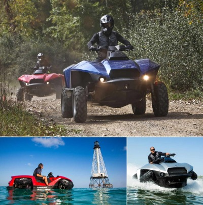 thedailyfeed:  Is this the best invention ever? It's the Quadski, a one-person all-terrain vehicle that doubles as a jetski.