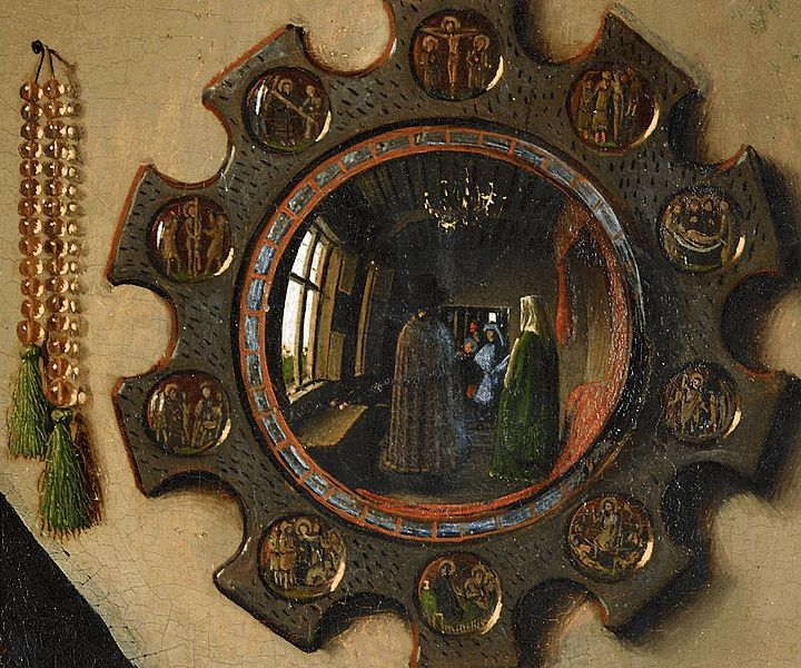 thegoldeneternity:  Jan van Eyck, The Arnolfini Portrait (detail), 1434.