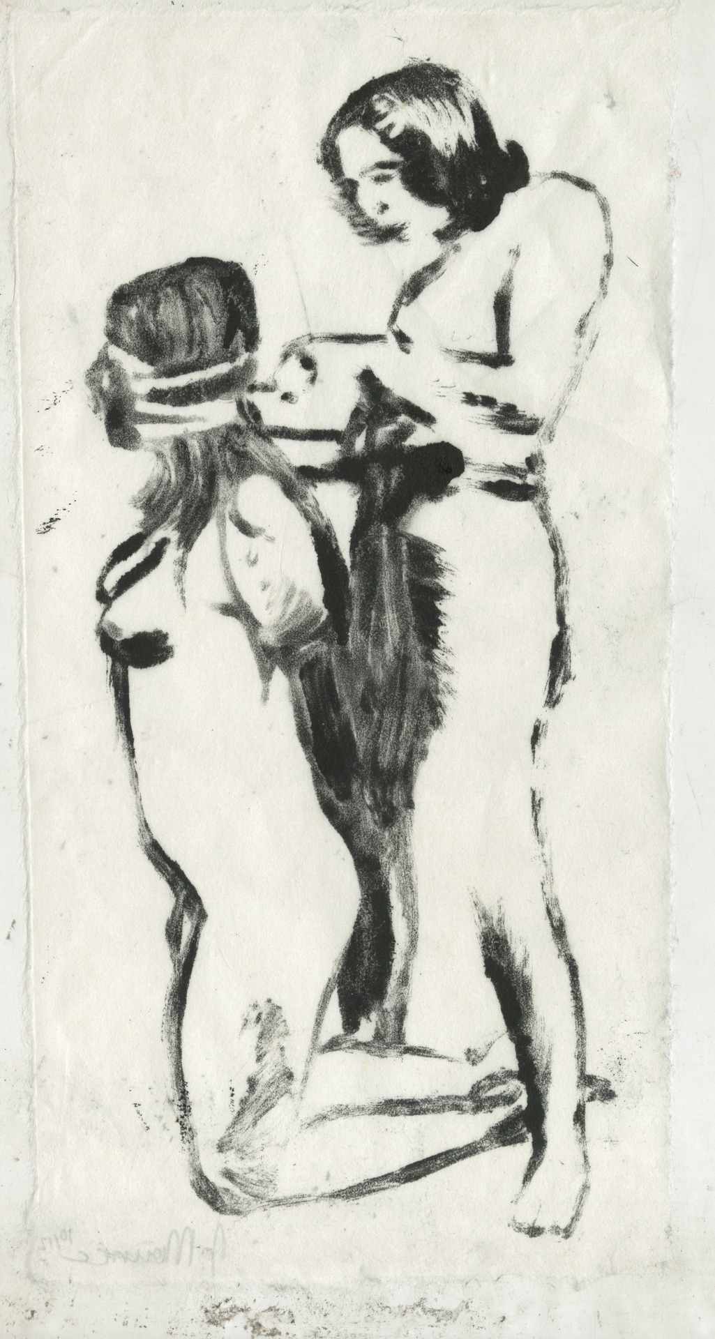 monotype on kitakata paper