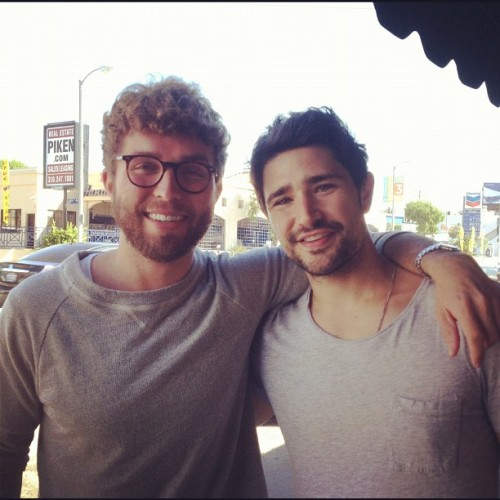 Two infectious smiles! Matt Dallas and designer Timo Weiland! MDW main site . Twitter . Facebook Page . YouTube Channel . Pinterest