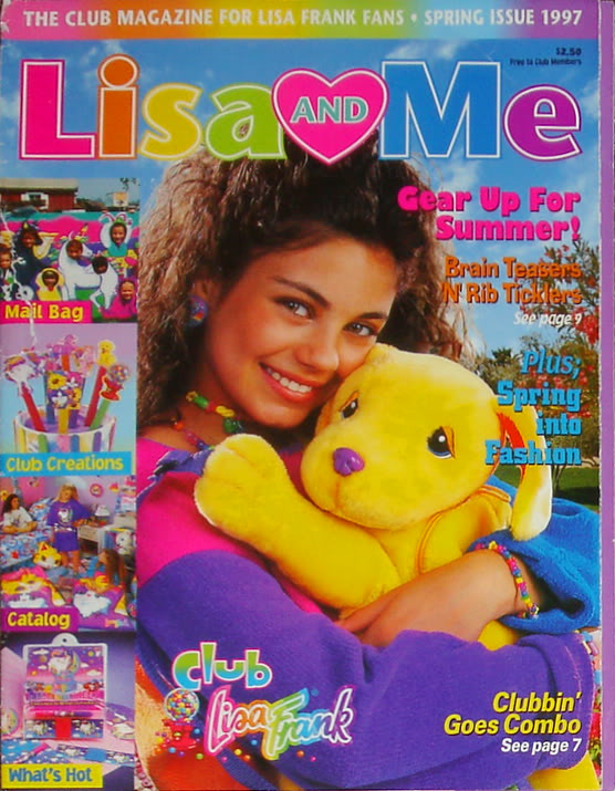 rad-radelman:  yea. that happened. lisa frank + mila kunis
