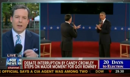 "How Fox describes a fact check: ""Debate Interruption By Candy Crowley Steps On Major Moment For Gov Romney"""
