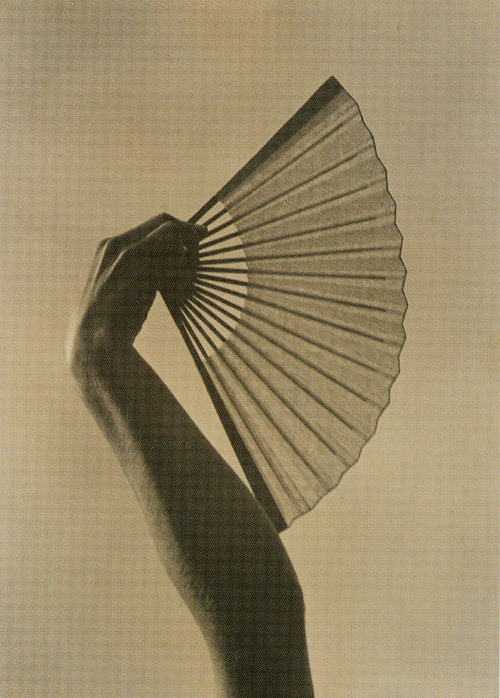 Margrethe Mather, Fan in Hand, 1925.