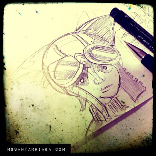 Orejas #sketch #illustration #art #artwork #hgsantarriaga #hat #gogles #wip #characterdesign #wip