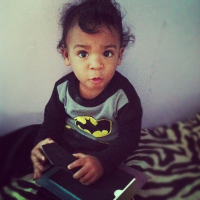 My little #batman 😯💙