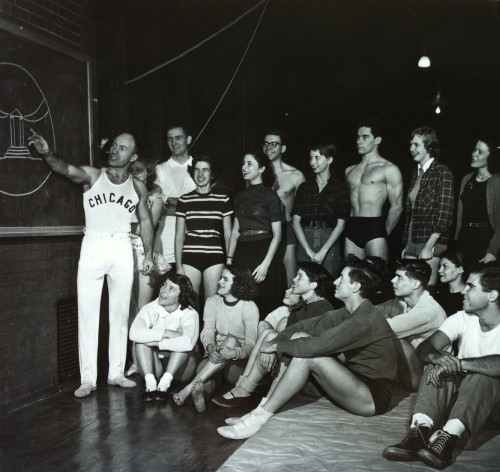 calumet412:  Physical Education class, University of Chicago, 1946, Chicago.