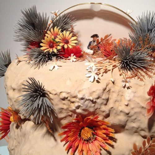 "jfergesongallery:  Detail of Amy Santoferraro's ""Mountaineer"". #ceramic #contemporaryclay (at j fergeson gallery)  Hey, I know her…."