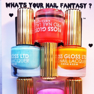 "Mine is @flossgloss! ""Neon Nacho"" looks so legit.  #nailinghollywood"