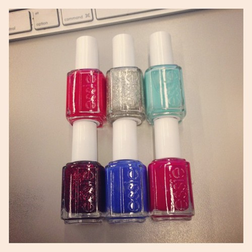 elle:  Presenting: your holiday mani colors, courtesy of Essie  We love these!