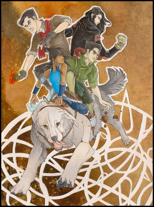 awaicu:  The Legend of Korra by Awaicu and Zulayawolf Collaboration between Awaicu (me) and Zulayawolf on DeviantART. The original piece is currently up for auction.   There's only a week left on the auction! It ends the 31st! Please take a look!