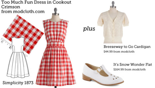 (via Make This Look: Too Much Fun Dress in Cookout Crimson | The Sew Weekly - Sewing & Vintage Lifestyle)