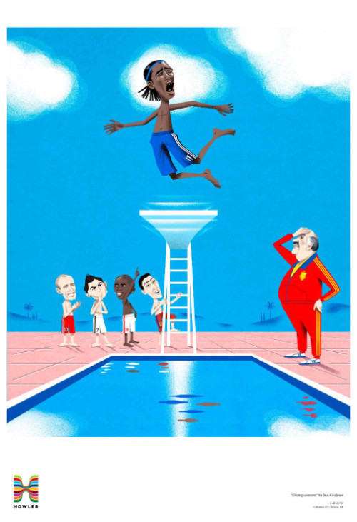 """Diving Lessons"" by Ben Kirchner. This print is now available in our shop. (Just a reminder: We split all revenue with the artists.)"