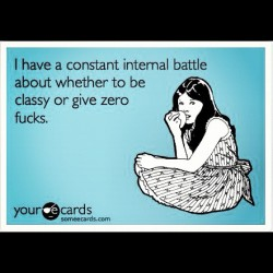 Daily dilemma! #zerofucks #dilemma #classybetch #whitegirlproblems #funny #hmm #wednesday