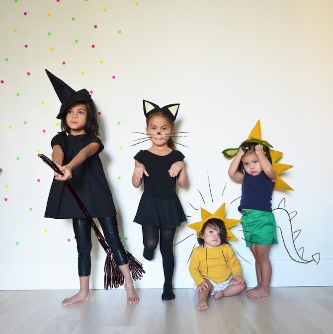 rainbowsandunicornscrafts:  DIY Halloween Headband Tutorials from Prudent Baby here. Headband Tutorials using felt for:  Witch Cat Ray of Sunshine Dragon   A few spooky too cute DIY Halloween costumes. Love it!