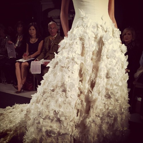 Beautiful skirt embroidery by  @Mark_Zunino #bridalmarket #weddingdress