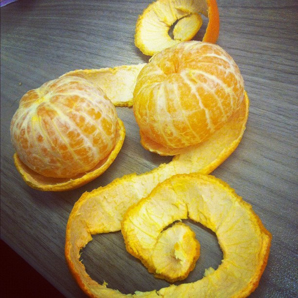 This is how I typically peel my clementines. ☺