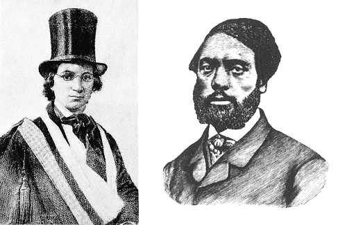 "lickystickypickywe:  In 1848, Ellen and William Craft resolved to flee slavery, but they needed a way to get from Macon, Ga., to the free states in the north. William could never travel such a distance alone, but Ellen's skin was fair enough that she could pass for white. So she disguised herself as a white male cotton planter attended by William, her slave. (She had to pose as a man because a white woman would not have traveled alone with a male slave.) The two asked leave to be away for the holidays, the illiterate Ellen bound her arm in a sling to escape being asked to write, and they departed on Dec. 21. Over the next four days: Ellen found herself sitting next to a friend of her master on the train to Savannah. She feigned deafness to discourage his attempts to engage her in conversation. The captain of a steamer to Charleston complimented Ellen on her ""very attentive boy"" and warned him to shun the ""cutthroat abolitionists"" in the north. During the voyage a slave trader offered to buy William, and a military officer scolded Ellen for saying ""thank you"" to her slave. In South Carolina a ticket seller insisted on seeing proof that Ellen owned William. A passing captain intervened and sent them on their way. In a Virginia railway station a white woman confronted William, mistaking him for her own runaway slave. An officer in Baltimore threatened again to detain them without proof of ownership, but relented, telling a clerk, ""He is not well, it is a pity to stop him."" On Dec. 25, after a journey of more than 800 miles, they arrived in Philadelphia:  On leaving the station, my master — or rather my wife, as I may now say — who had from the commencement of the journey borne up in a manner that much surprised us both, grasped me by the hand, and said, 'Thank God, William, we are safe!' then burst into tears, leant upon me, and wept like a child. The reaction was fearful. So when we reached the house, she was in reality so weak and faint that she could scarcely stand alone. However, I got her into the apartments that were pointed out, and there we knelt down, on this Sabbath, and Christmas-day, — a day that will ever be memorable to us, — and poured out our heartfelt gratitude to God, for his goodness in enabling us to overcome so many perilous difficulties, in escaping out of the jaws of the wicked.  The Crafts went on a speaking tour of New England to share their story with abolitionists, then moved to England to evade recapture under the Fugitive Slave Act. They returned only in 1868, when they established a school in Georgia for newly freed slaves."