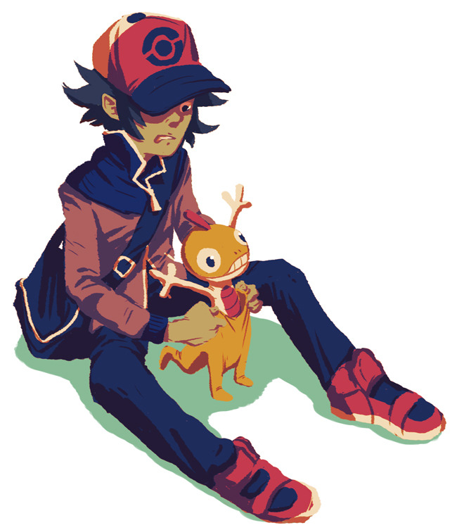 i am totally jealous of everyone playing BW2 bc i cannot afford it so have a slightly recolored slightly edited version of this old thing scraggy is soooo weeird