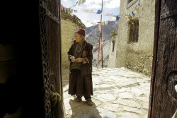 Old woman in Lamayuru Ladakh.Jammu kashmir.India by courregesg on Flickr.