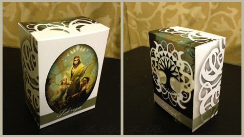 mtg-realm:  Magic the Gathering DIY Selesnya Deckbox by EmptyClaw's spouse